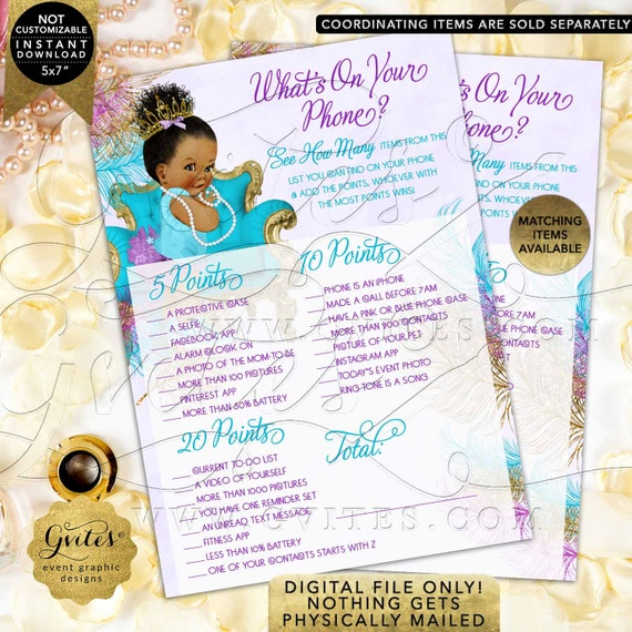 """What's On Your Phone Baby Game Purple Gold Turquoise 