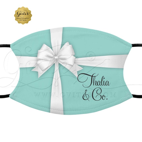 Custom Face Masks Breakfast At Theme | Robin Egg Blue Gifts For Her