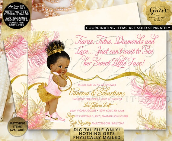 """Pink Ivory and Gold Baby Shower Invitation 