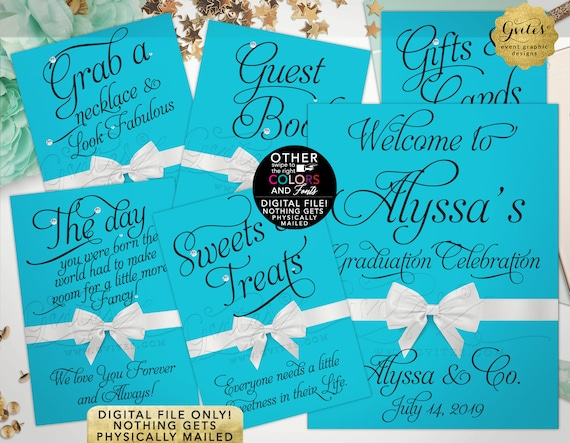 Graduation Party Signs \ Welcome Customizable Text \ Table Quotes\Decorations\Game Cards\Gifts\Treat Sign. DIY\Digital\Printable\JPG\PDF