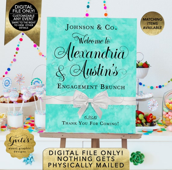 Engagement Welcome Signs | Breakfast Brunch Decorations | Printable/Digital/DIY