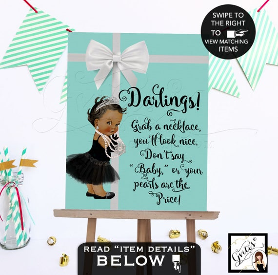 Baby and Co Games/ Don't Say Baby/ Baby Necklace Game Sign