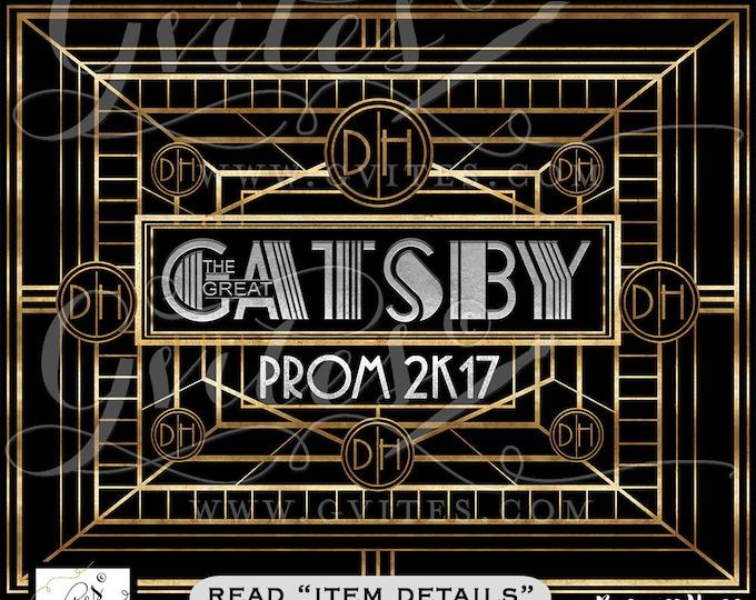 BackdropThe Great Gatsby Backdrop theme backdrop, the great gatsby theme party banner signs, prom graduation, backdrops. Digital File Only!