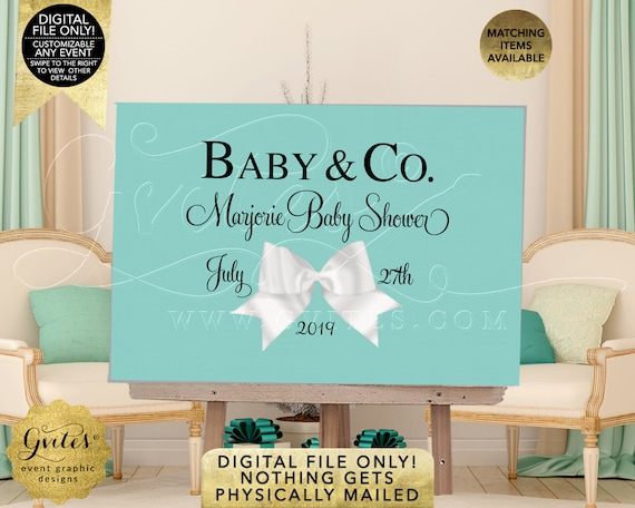 Baby & Co Table Backdrop Party Decoration Printable | JPG + PDF