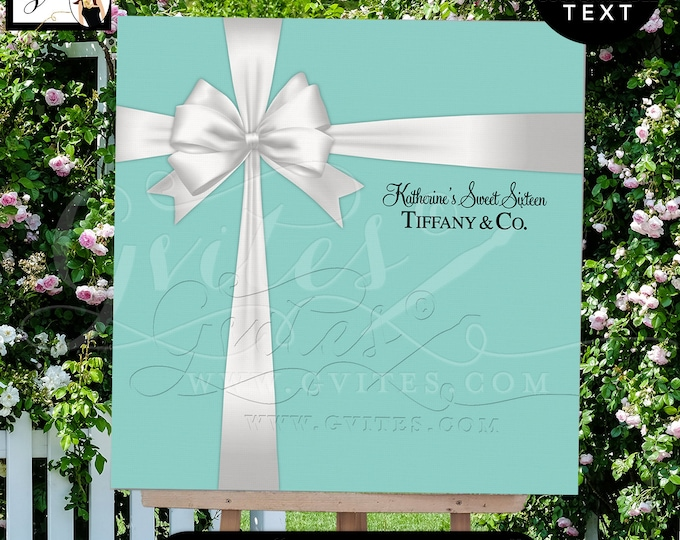 Sweet Sixteen Poster, Welcome Sign, Birthday, Bridal Shower, Breakfast at Backdrop Customizable Size, Text and Colors, Digital File ONLY!