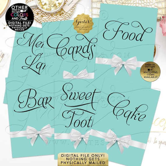 """Custom Table Signs 