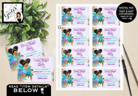 Instant Download Book Request purple turquoise gold diaper Dark Puffs