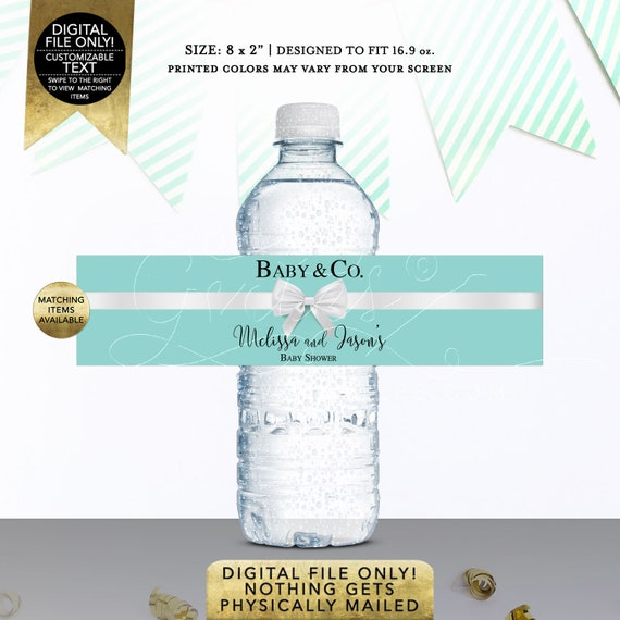 """Baby and Co Printable Water Bottle Labels Personalized 