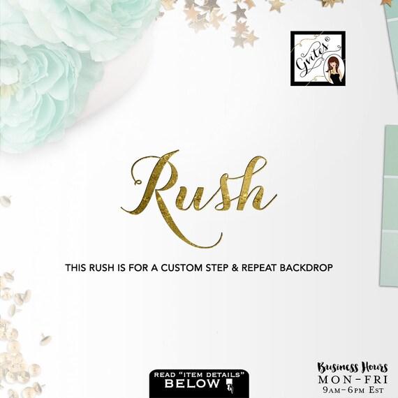 Rush Order Custom Step & Repeat Backdrop Design
