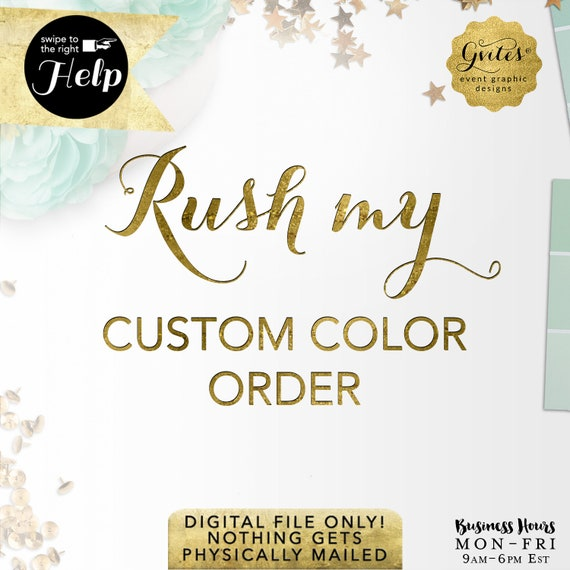 Rush my digital order! Add-On Gvites - Turnaround is 48 hours: Order MUST be placed  Mon-Thu before 6PM EST