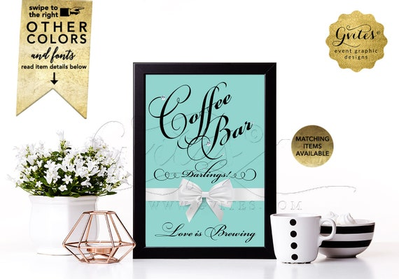 """Coffee Bar Sign 