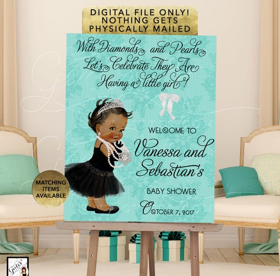 Welcome Baby Shower Printable Poster Signs, Customizable Text. Digital File Only!