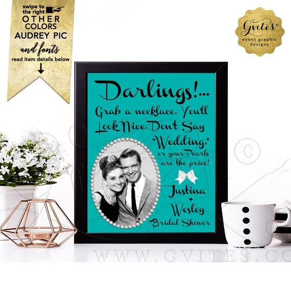 Coed Bridal Shower Games - Don't Say Wedding Printable / DIY Digital File 8x10
