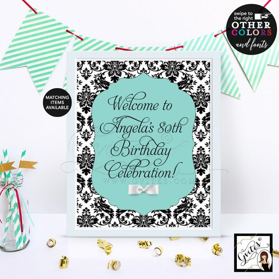 Audrey Hepburn Birthday Party Welcome Sign