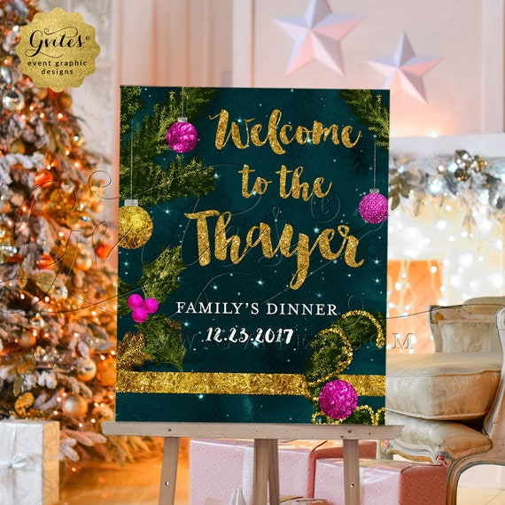 Christmas Dinner Welcome Sign