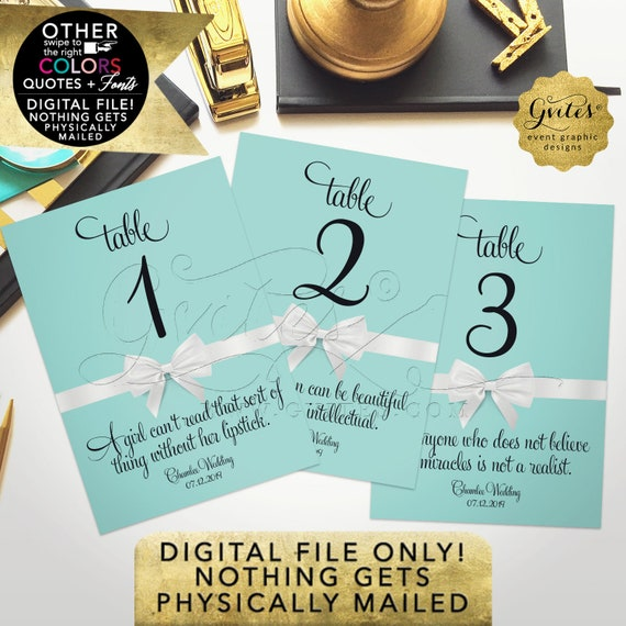 """Wedding Table Numbers Quotes 
