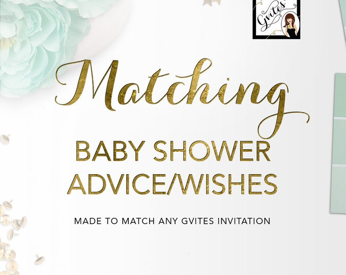 Matching Advice Card Well Wishes For Baby Add-on - To coordinate with any Gvites invitation design.