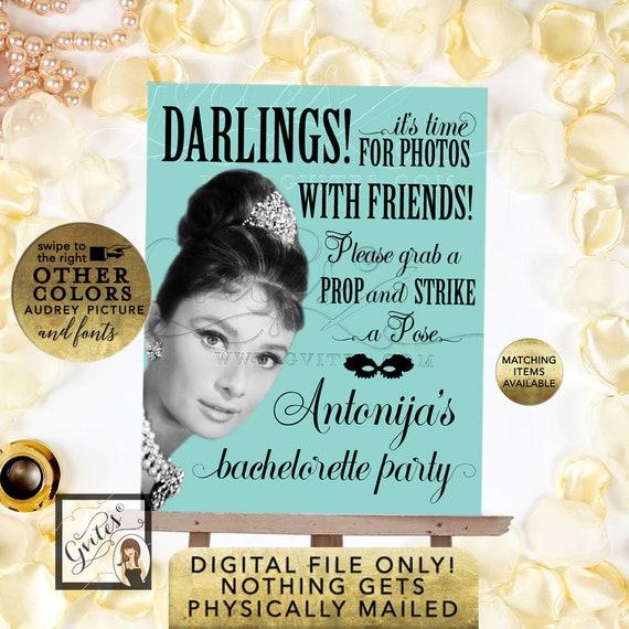 Audrey Hepburn Photo Booth Sign | Digital PDF + JPG by Gvites