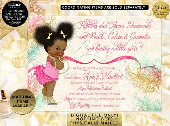 Mint yellow and pink baby shower invitations | Digital File JPG + PDF Format | Design: RAPCE-106 By Gvites