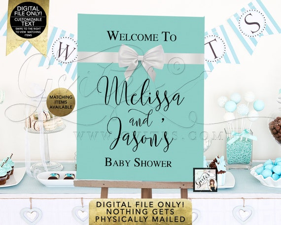 Couples Baby Shower Welcome Sign/ Customizable Poster Printable Decorations. Digital File Only!