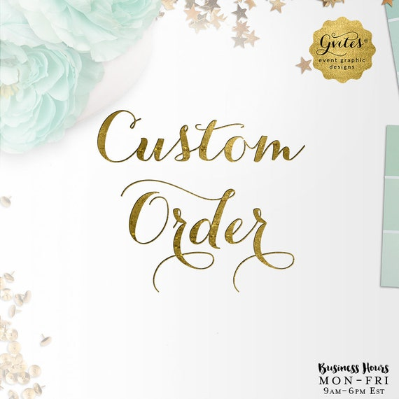 Custom Birthday Printable Invitation - Design Fees Only