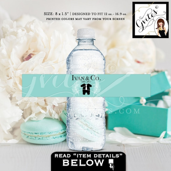Baby Boy & Co Water Bottle Labels | Breakfast themed favors and gifts.