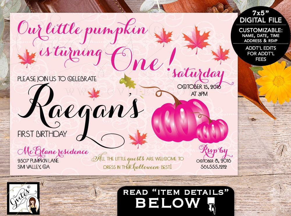 Pink pumpkin first birthday invitation blush pink orange vintage pink pumpkin first birthday invitation blush pink orange vintage fall autumn invitations baby invites 1st bday party digital 7x5 filmwisefo