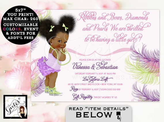 Pink purple and lime green baby shower invitation african etsy image 0 filmwisefo
