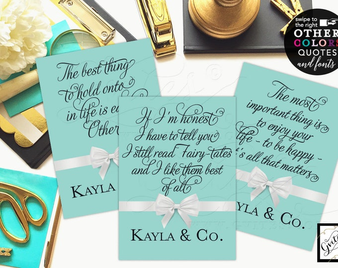 Bride and Co Signs Audrey Party printable wall art quote, breakfast bridal shower signs, famous quotes, CUSTOMIZABLE {4x6 or 5x7} Set of 3