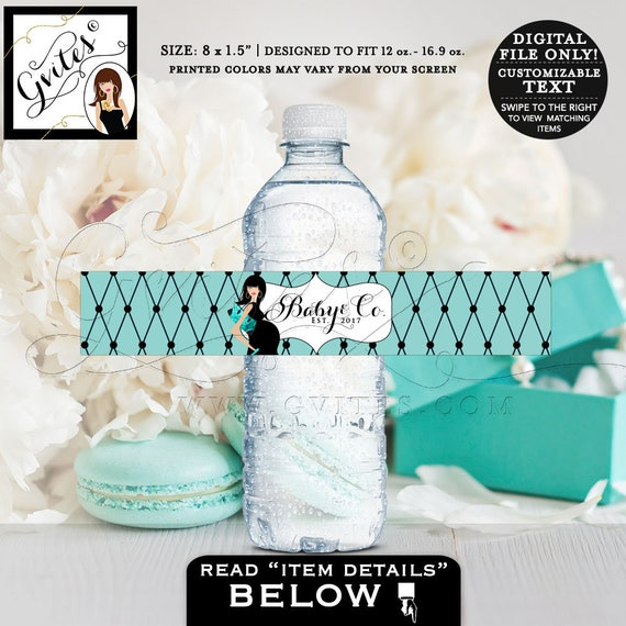 """Baby & Co water bottle labels 8x1.5"""" 6 Per/Sheet by Gvites"""