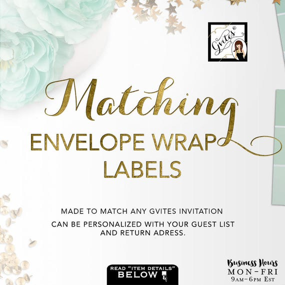 Matching Guest Address Labels - To coordinate with any Gvites design. PRINTABLE Guest & Return Avery®