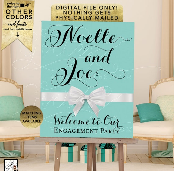 Welcome Engagement Party Printable Poster Sign. Digital File Only!