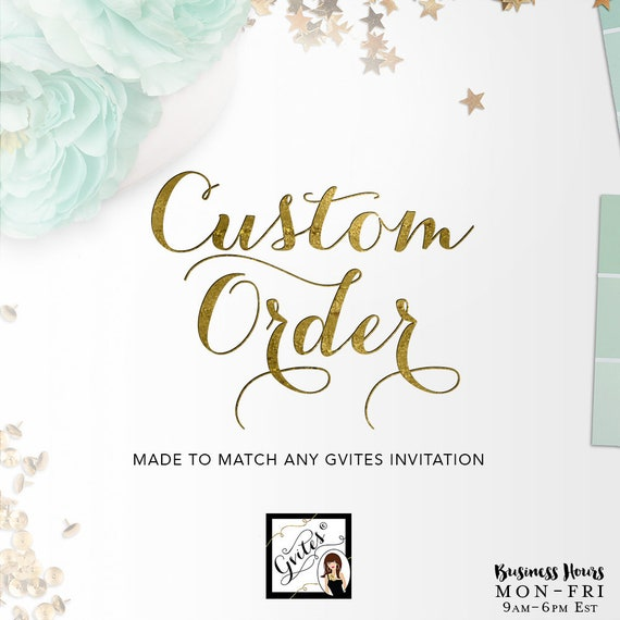 Custom Order - Matching Baby Shower Printable Design