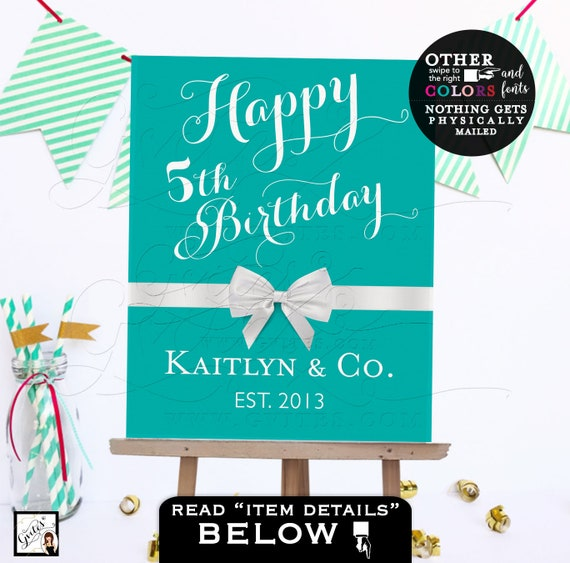 Baby and Co Happy Birthday signs Custom/ Personal