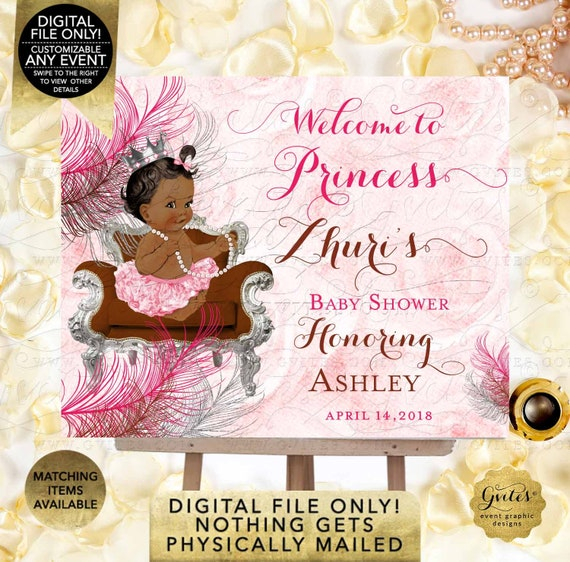 Hot Pink Welcome Baby Shower Sign | Digital File JPG + PDF | By Gvites