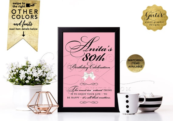 """Personalized Birthday Signs With your favorite Audrey Hepburn Quote. {4x6"""" or 5x7""""}"""