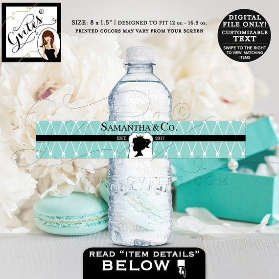 """Baby Shower Water Labels 8x1.5"""" 6 Per/Sheet by Gvites"""