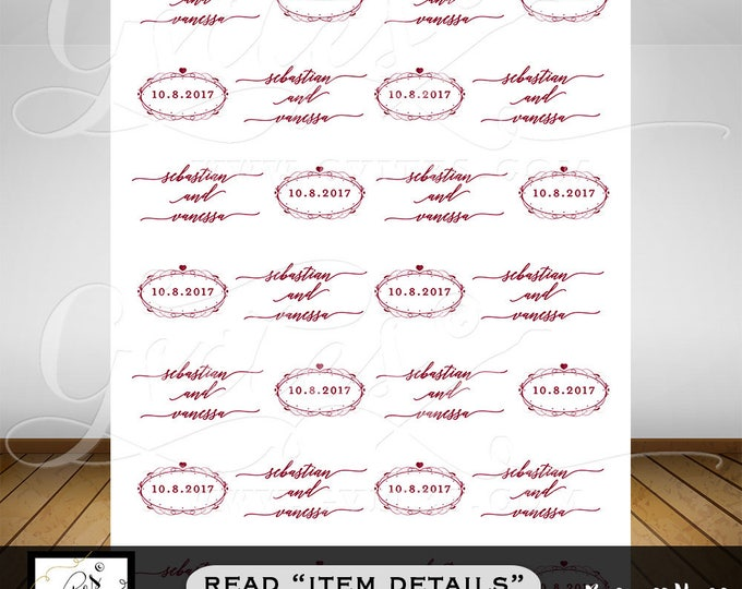 Wedding Step & Repeat Banner, backdrops white and cranberry, customizable COLORS/Text. PRINTABLE. Custom step and repeat bridal.