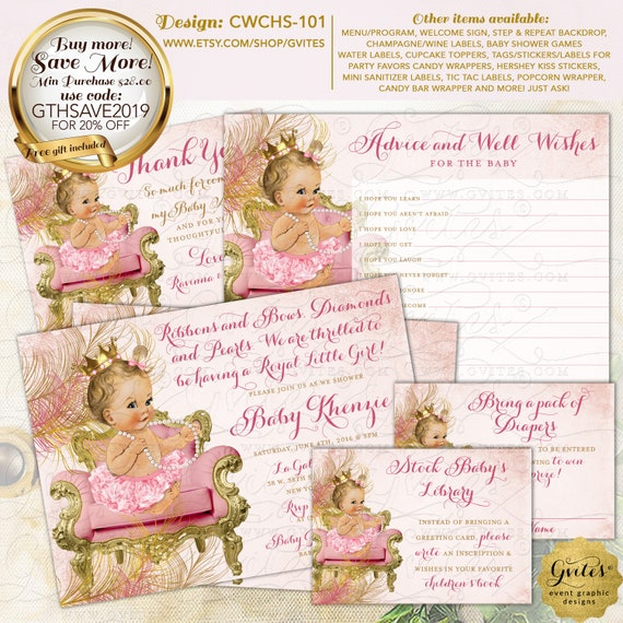 Rose Gold Baby Shower Diaper Raffle Tickets | Design: CWCHS-101 By Gvites