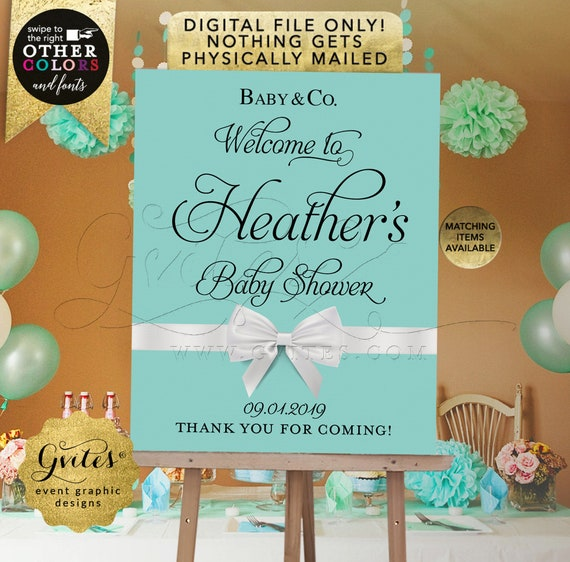 Baby Welcome Sign Printable Poster. Customizable Any Event. Digital File Only! JPG + PDF Format.