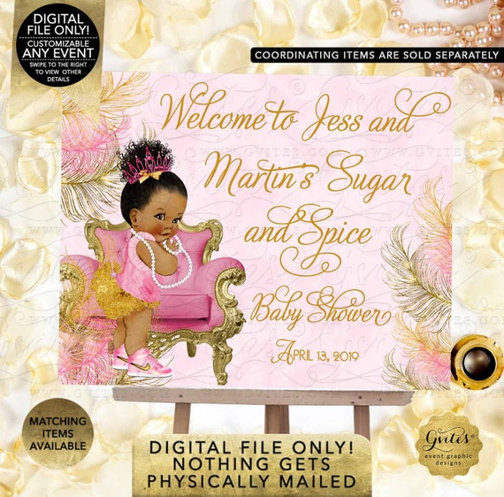 Sugar and Spice Banner Welcome Sign Baby Shower | Printable Digital JPG + PDF | {Design: TIACH-110} By Gvites