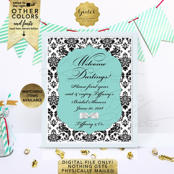 Personalized Table Decorations for any event | JPG + PDF 8x10"