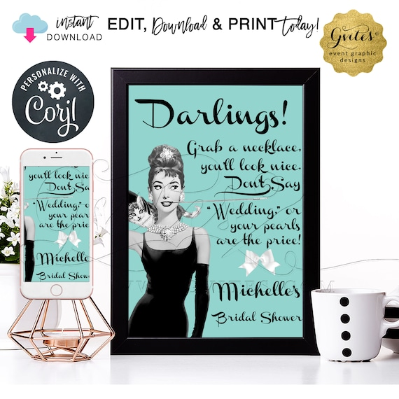 """Personalized Pearl Necklace Game Sign 