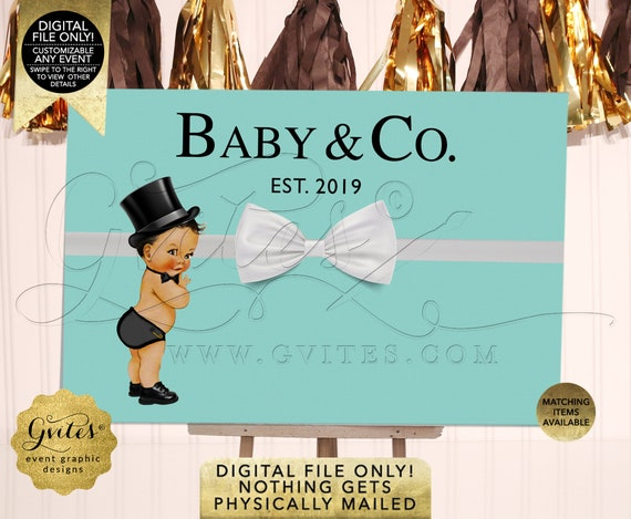 Baby Boy & Co Backdrops For Baby Shower or Birthday Party Decoration. Blue Theme/Little Man with Bowtie/Cane/Mustache. DIY/Printable/Digital