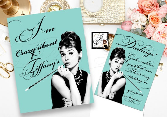 "Custom Audrey Hepburn Printable Set of 2 Quote Signs 8x10"" By Gvites"