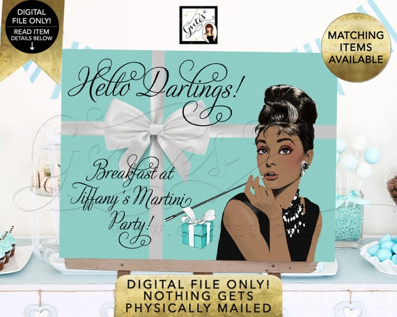 Breakfast at Welcome Sign - Audrey Hepburn Theme | Digital JPG + PDF by Gvites