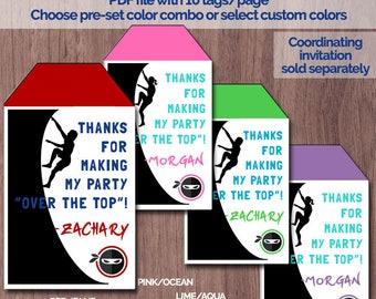 Ninja Warrior Invitation Birthday Party Obstacle Course Etsy