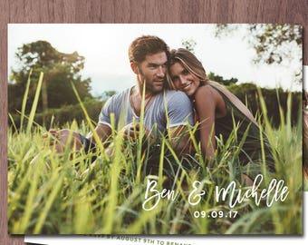Photo Wedding Invitation Card Double Sided Card Wedding Invitation Photo Card Announcement Wedding Invitations Modern LDS Wedding Temple