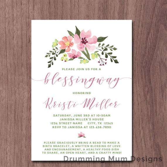 Blessingway Invitation Mother Blessing Invite Blessing Way Etsy