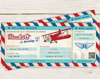 Boarding Pass Invite Etsy